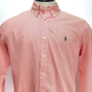 Ralph Lauren Needle Stripe Dress Shirt - Sz M